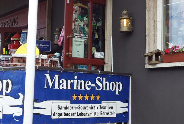 Marineshop im Ostseebad Breege auf der Halbinsel Wittow von Rügen