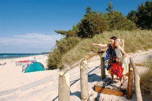 Strandabschnitt an der Ferienanlage Regenbogen Nonnevitz auf Rügen