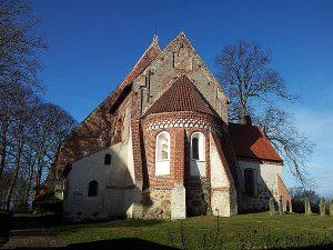 Kirche von Altenkirchen auf der Halbinsel Wittow im Norden von Rügen