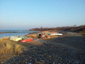 Strandabschnitt von Dranske auf der Halbinsel Wittow im Norden von Rügen