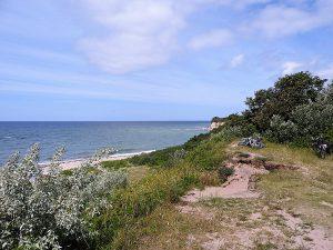 Blick über die Ostseeküste der Halbinsel Bug auf Wittow