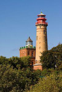 Leuchttürme am Kap Arkona auf der Halbinsel Wittow von Rügen