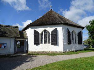 Kapelle von Vitt am Kap Arkona auf der Insel Rügen an der Ostsee