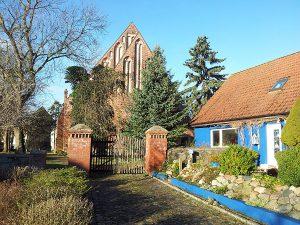 Kirche in Wiek auf Wittow im Norden von Rügen