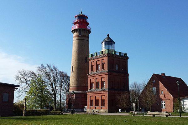 Leuchtturm am Kap Arkona auf der Insel Rügen an der Ostsee