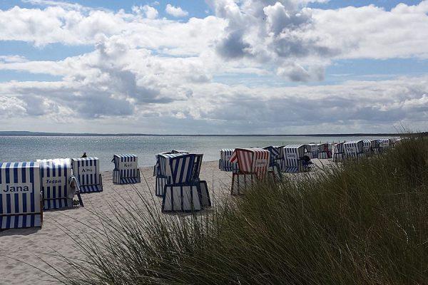 Strandabschnitt im Ostseebad Breege-Juliusruh auf der Halbinsel Wittow im Norden von Rügen