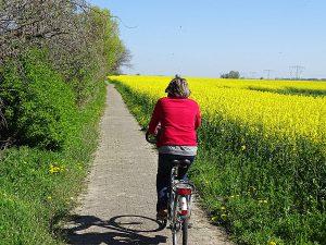 Rad fahren auf der Halbinsel Wittow im Norden von Rügen