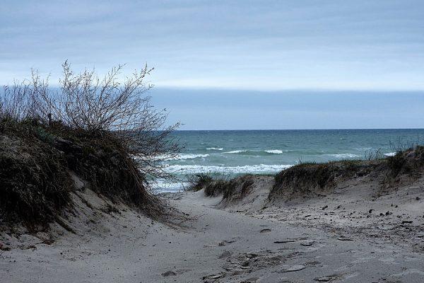 Strandzugang vom Ostseebad Breege-Juliusruh auf der Halbinsel Wittow im Norden von Rügen