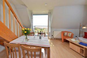 Zimmer der Ferienwohnung in der Hotel- und Ferienanlage Kapitänshäuser in Breege auf Rügen