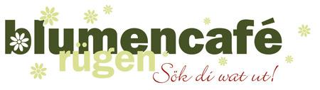 Logo des Blumencafés in Wiek auf der Insel Rügen – Sök di wat ut!