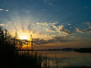 Sonnenuntergang auf der Halbinsel Wittow
